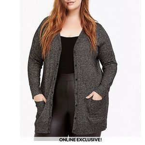 Torrid black gold cardigan